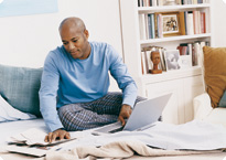 Guy doing his finances