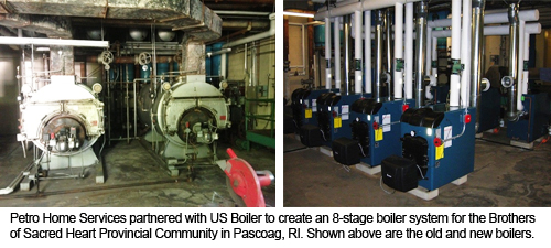 Old and New Petro Boiler System for Sacred Heart