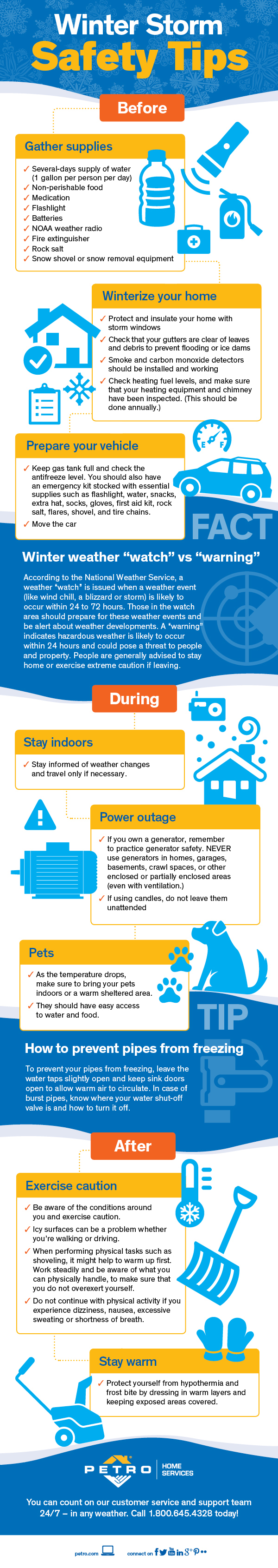 winter storm safety tips infographic