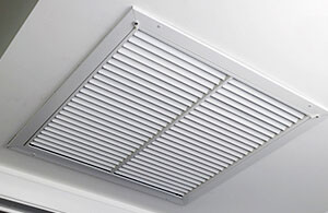 Air vent for an HVAC system set into the ceiling