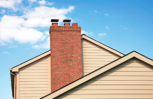chimney on a home