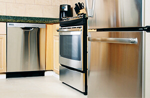 Metal kitchen appliances