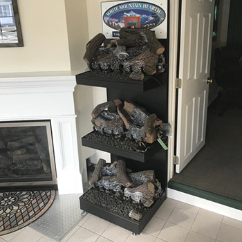 Different propane fireplace log models