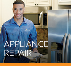 A Petro technician works on home appliances for our local customers