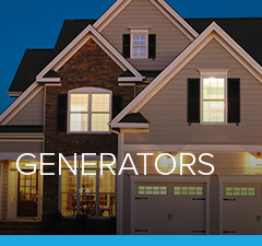 A house utilizing a home generator system from Petro
